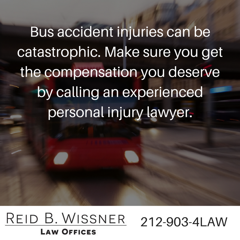 Injured in a NY bus accident? call a personal injury lawyer