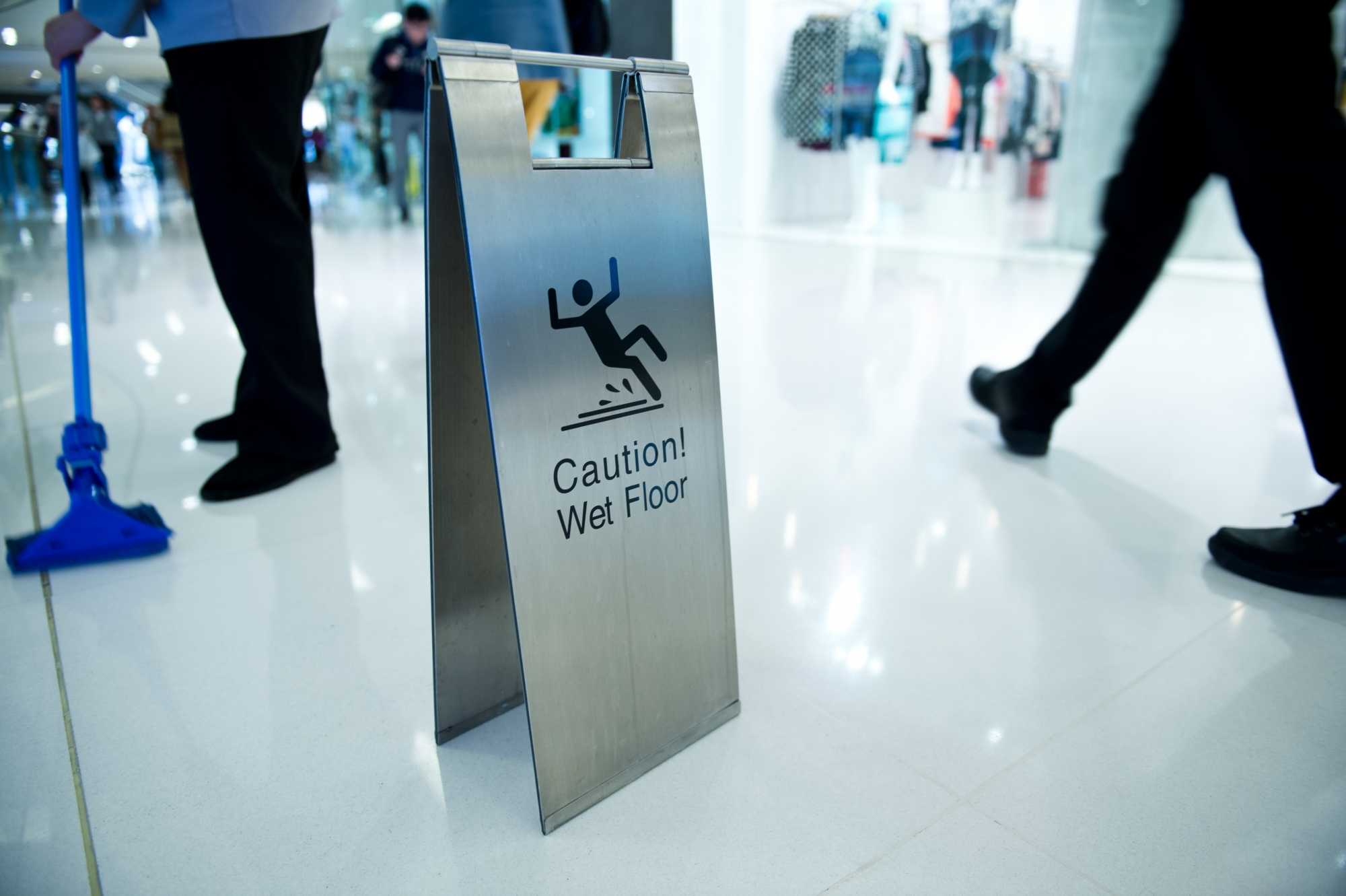 Department store wet floor slip and fall | Reid B. Wissner Personal Injury Lawyer
