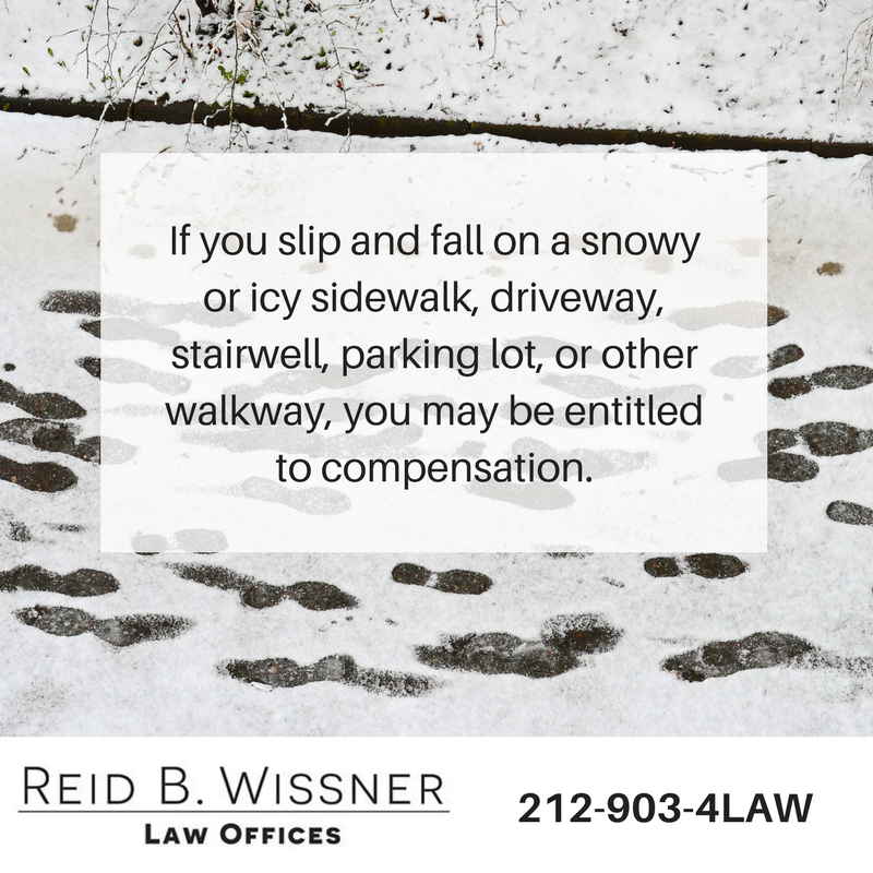 slip and fall on ice lawyer | New York City